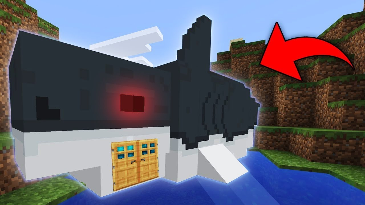Minecraft how to build a house in a shark live inside a for How to go about building a house