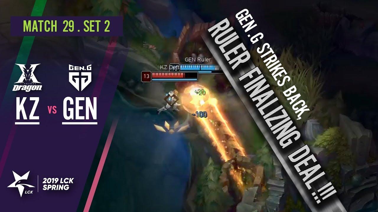 Gen.G Strikes Back, Ruler Finalizing Deal! : KZ vs GEN [2019 LCK Highlight] Match29 Game2