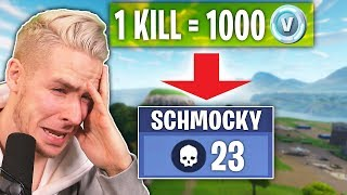 Pay a KILL in FORTNITE = 1,000 V-BUCKS! With Schmockyyyy!