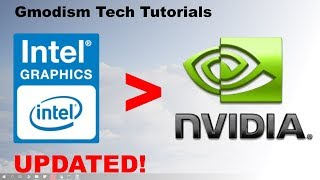 How To Switch From Intel Hd Graphics To Dedicated Nvidia Graphics Card   2020 Working Tutorial