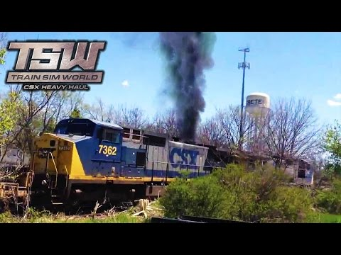 ROMPO EL MOTOR DEL TREN!! - TRAIN SIM WORLD: CSX HEAVY HAUL