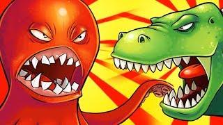 ОГРОМНЫЙ ОСЬМИНОГ нападает на КЕНГУРУ Веселое видео для детей в необычной игре про Осьминога #ФГТВ