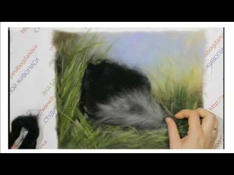 Мастер класс картины из шерсти Яны Богдановой