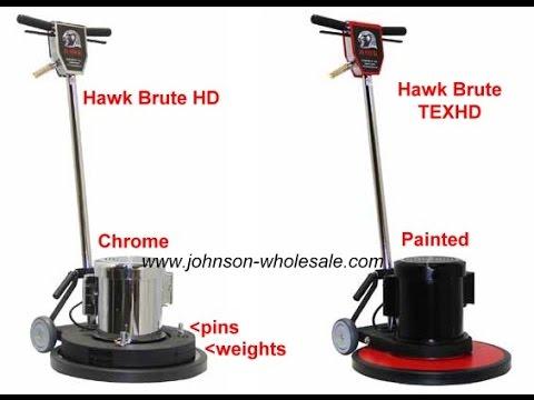 hawk brute extreme floor buffer hp1520-180cp hp1517-180cp - youtube