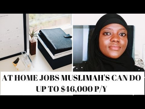 AT HOME JOBS MUSLIM WOMEN CAN DO WITH GREAT PAY