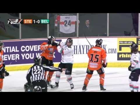 Ben O'Connor vs Mike Forney EIHL fight 13-12-15