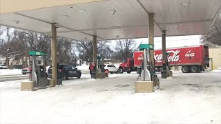 Big Truck Vs. Car Fender Bender In Grand Forks