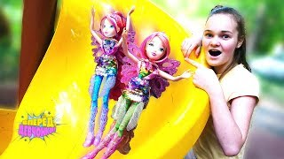 Мультик ФЕИ ВИНКС - Детский сад и мыльные пузыри Winx - Куклы феи для девочек
