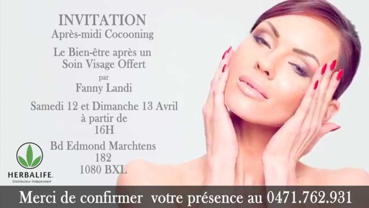 invitation soin visage herbalife offert du samedi 12 et dimanche 13 avril youtube. Black Bedroom Furniture Sets. Home Design Ideas