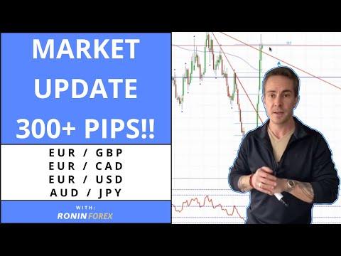 Forex Market Update ~ 300+ Pips Trading EURGBP, EURCAD, EURUSD & AUDJPY