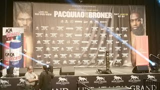 🔥LIVE🔥! PACQUIAO VS BRONER WEIGH-INS!