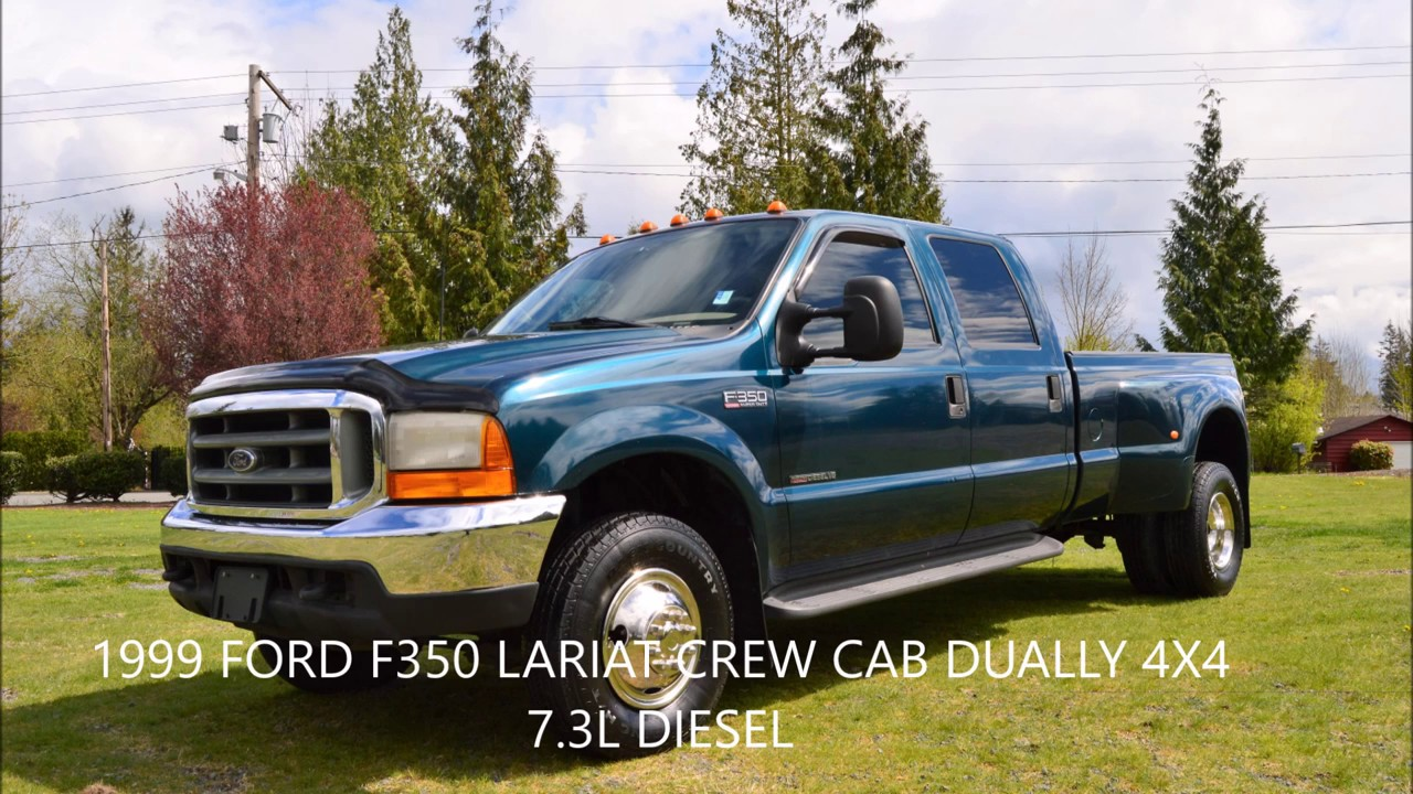 1999 ford f350 lariat crew cab long box 4x4 dually 7 3 diesel 153k