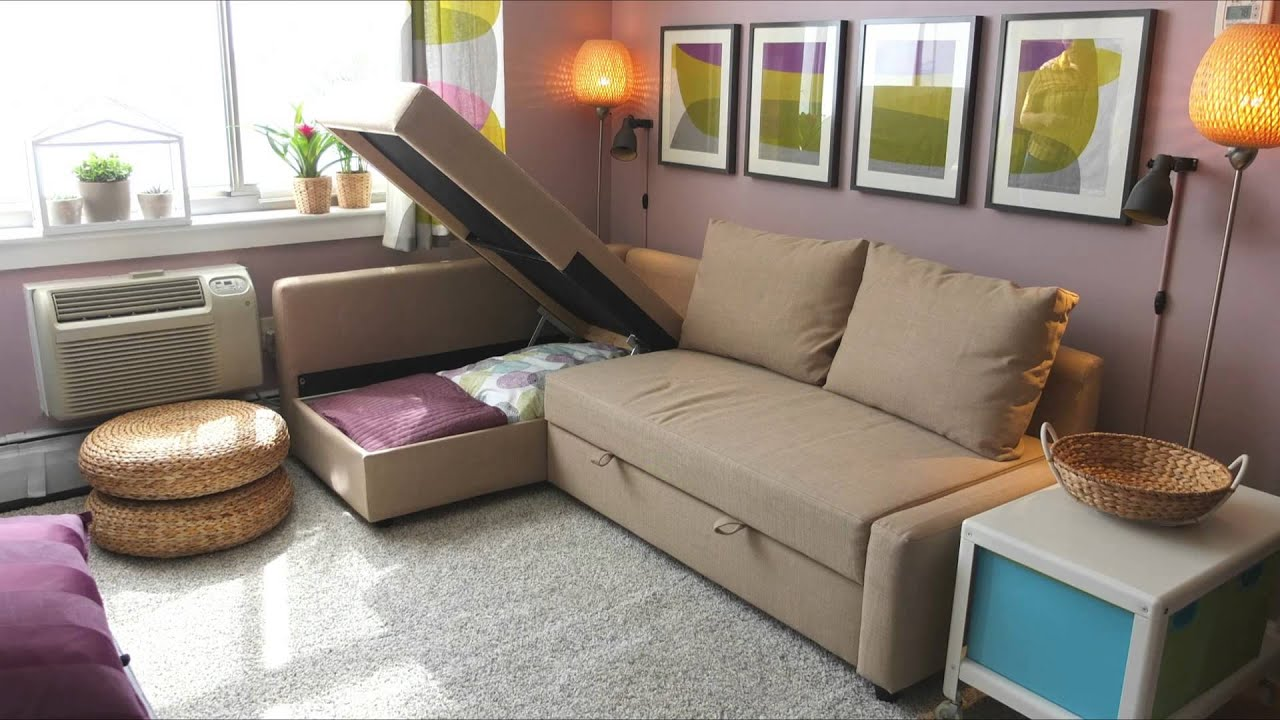 Ikea schlafcouch friheten  FRIHETEN Sofa Bed - IKEA Home Tour - YouTube