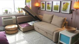 Friheten Sofa Bed - Ikea Home Tour