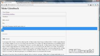 PHP Tutorial: GÄSTEBUCH erstellen mit PHP +Blätterfunktion   deutsch