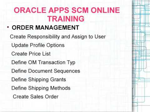 Oracle Apps Scm Online Training In Hyderabad|Bangalore - YT