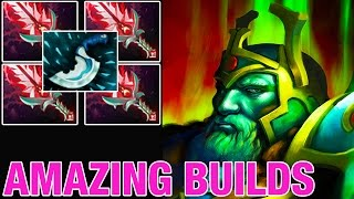 MASTER CRIT - Wraith King with 4 Bloodthorns - Amazing Builds 149 - Dota 2