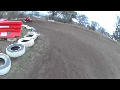 Sight/Practice lap of Mount Panorama motocross track at Bathurst 19/08/2012