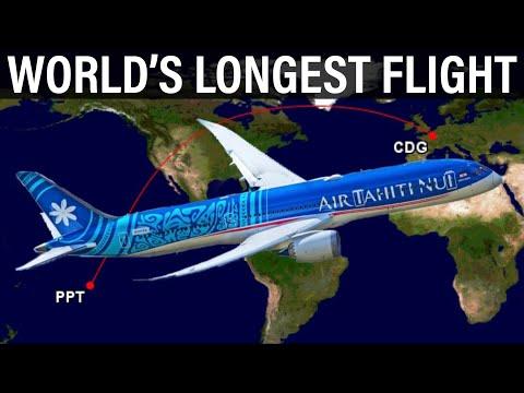 The WORLD'S LONGEST FLIGHT - Air Tahiti Nui's Nonstop Papeete to Paris