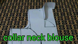 Collar Neck Blouse Paper Cutting ( Happy Diwali )