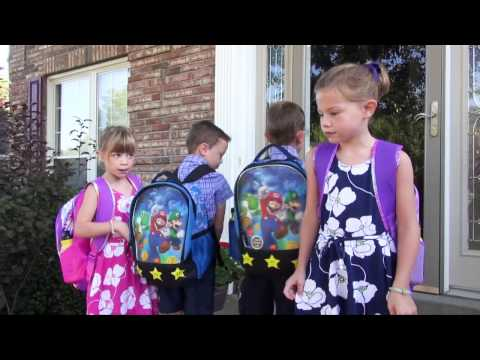 Quadruplets go to Kindergarten at Rogers Elementary!