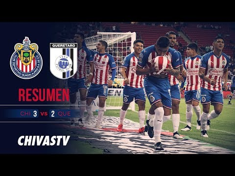 3 puntos en casa   Resumen   Chivas 3-2 Querétaro   Highlights   J18 LigaMX AP19