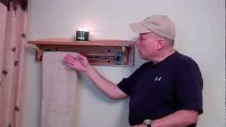 Hickory Towel Rack