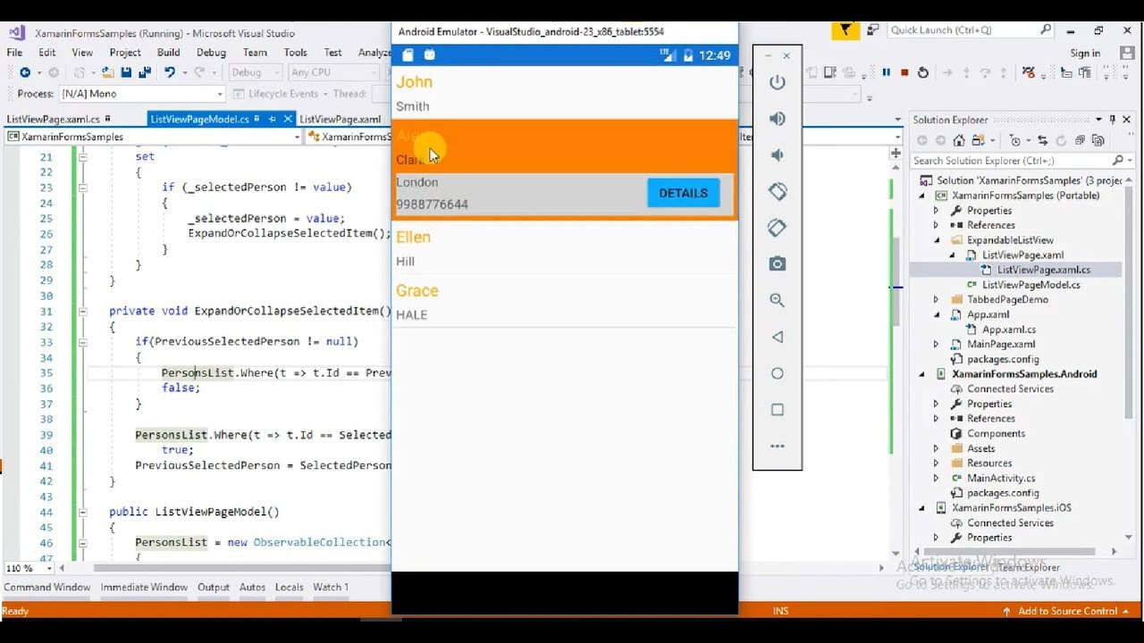 maxresdefault Xamarin Forms List View Example on forms listview, settings page, forms search box, forms master-detail, profile codes, forms filtering, shell title view, tablet application, forms navigation, login page border, custom renderer,
