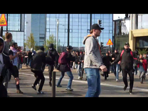 ORDINARY SWEDES ATTACK ANTIFA!!!
