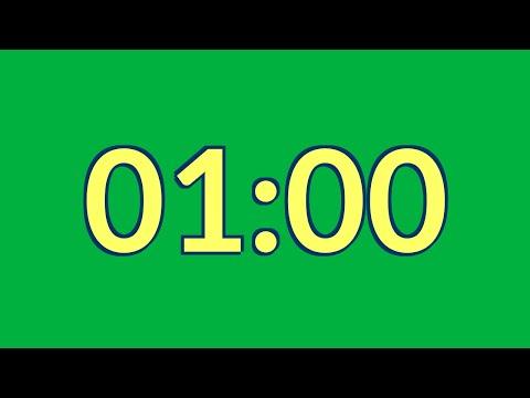 Free 1 minute timer green screen