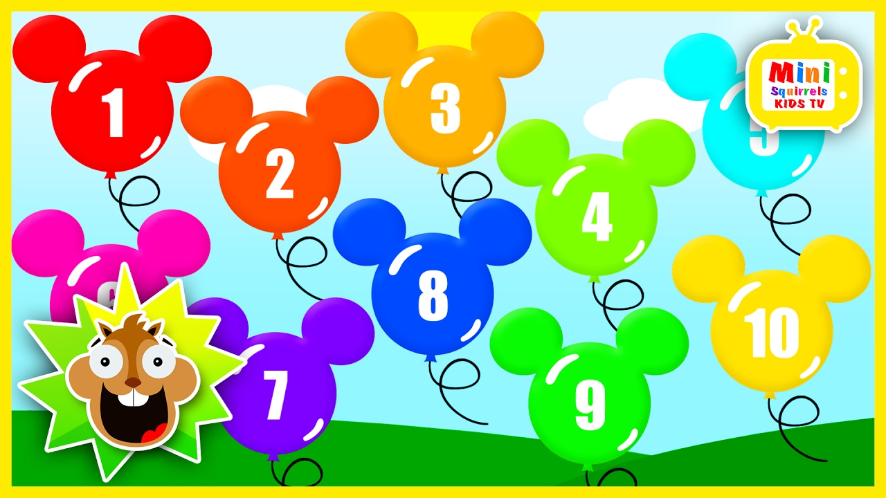 Learn To Count 1 10 Mickey Mouse Balloons Popping