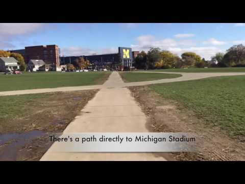 The 589-step walk from Ann Arbor (Mich.) Pioneer to Michigan Stadium
