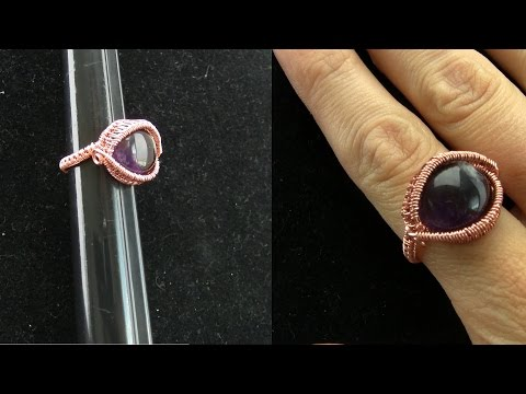 Cabochon Wire Wrapped Sized Ring Tutorial