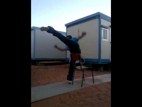 Hamza, Chair Guidance Kicks - Mawashi Geri