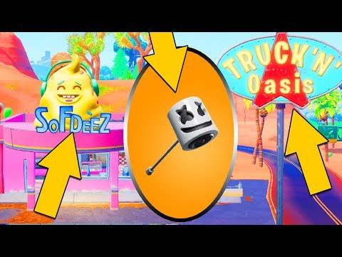 Use Keep It Mello at a Trucker's Oasis, Ice Cream Parlor and a Frozen Lake All Locations : Fortnite