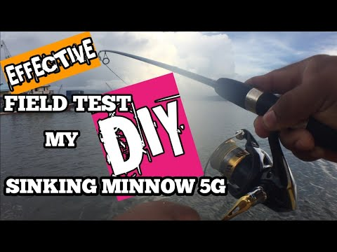 EFFECTIVE FIELD TEST//MY DIY SINKING MINNOW 5G//AK FISHING LURES