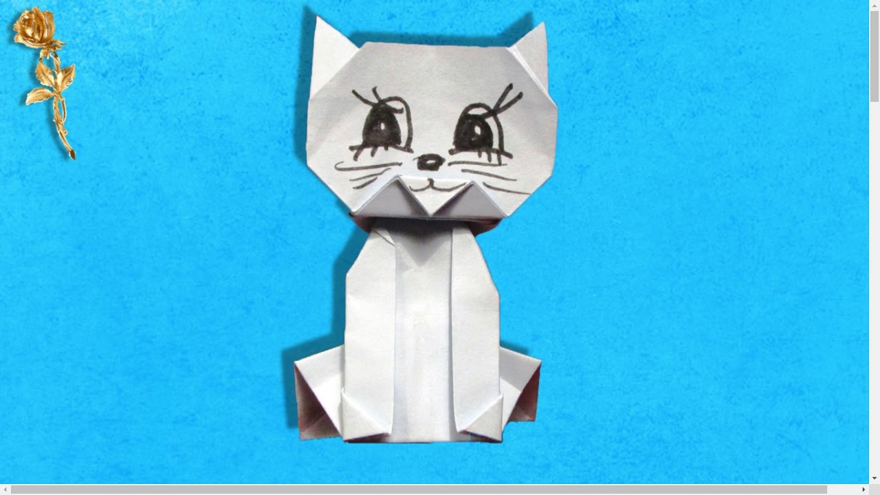 Origami chat jo nakashima youtube - Origami chat facile ...