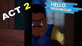 YETİŞİN DOSTLAR SAPIK KOMŞU PEŞİMDE! - Hello Neighbor Act 2 Türkçe