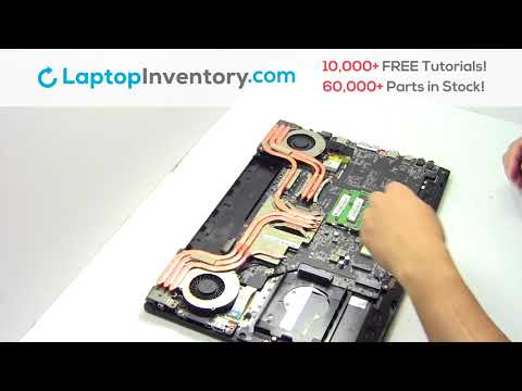 How to Replace MSI GP62MVR Laptop Motherboard and Fan, Dismantle GE72 GE62 GT72 GS73