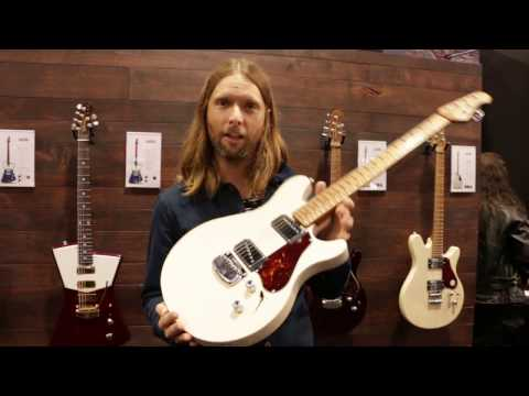 Affordable James Valentine Signature Guitar from Sterling - MAROON 5 - NAMM 2017 | GEAR GODS