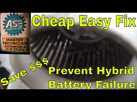 2010-2015 Prius Hybrid HV battery fan clean Cheap and easy POA82