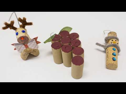 DIY: How to make easy ornaments from your leftover wine corks