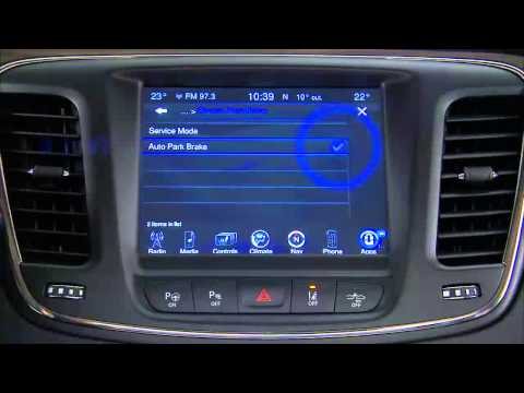 2015 Chrysler 200 Electronic Parking Brake