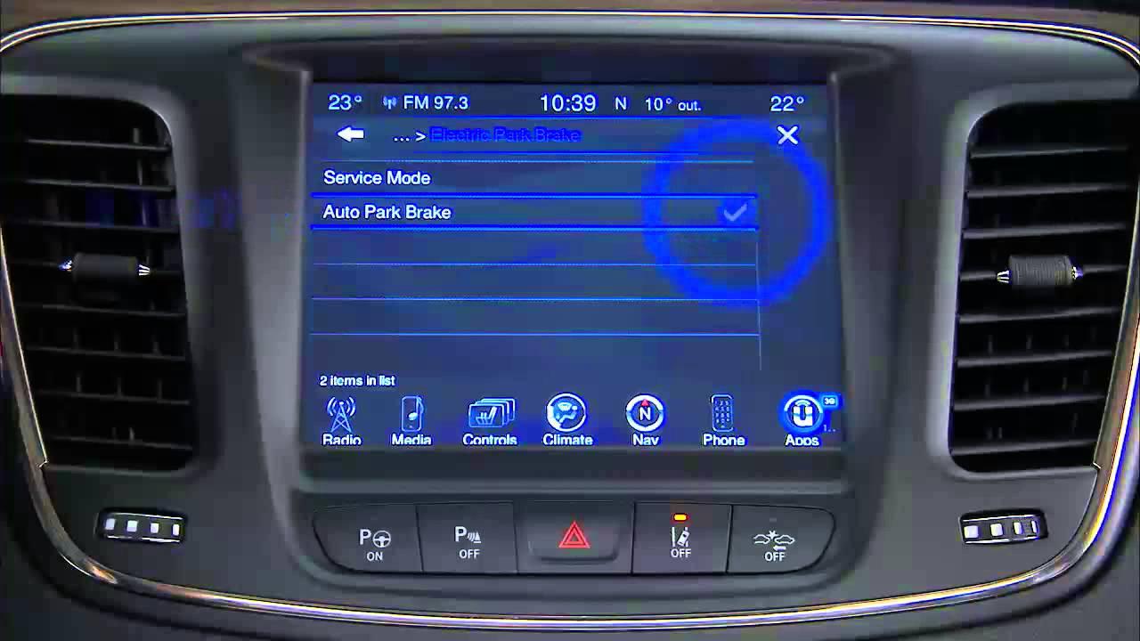 2015 Chrysler 200 Electronic Parking Brake Youtube