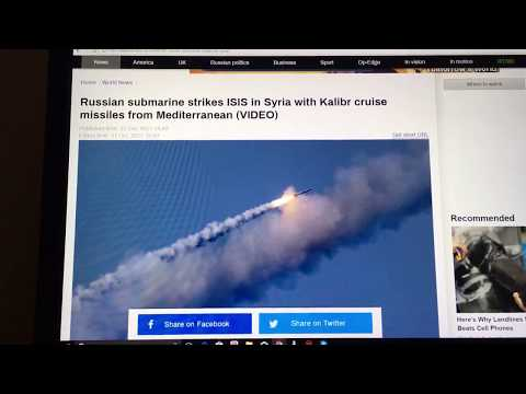Russia Launches Cruise Missiles Against ISIS In Syria
