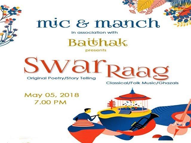 Rajat Gore performing in mic & manch : Swar - Raag