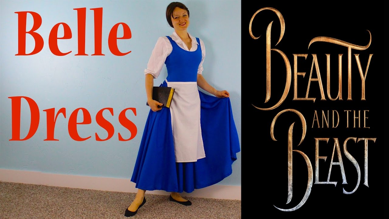 eea060149 How To Make A Peasant Belle Blue Dress! Beauty And The Beast Costume ...