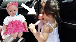 TODDLER PUTS HER DOLLS ON TIME OUT!