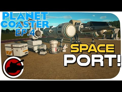 Planet Coaster Beta ►Beginnings Of A Space Port! (Planet Coaster Gameplay)