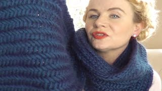 HERRINGBONE STITCH SCARF -  Part 1 of 3 video knitting projects by The Casting On Couch